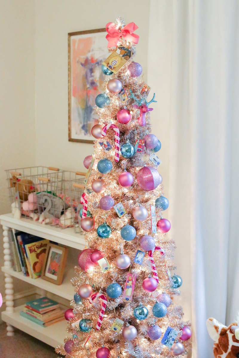 Little Girls Colorful Christmas Tree Cristin Cooper