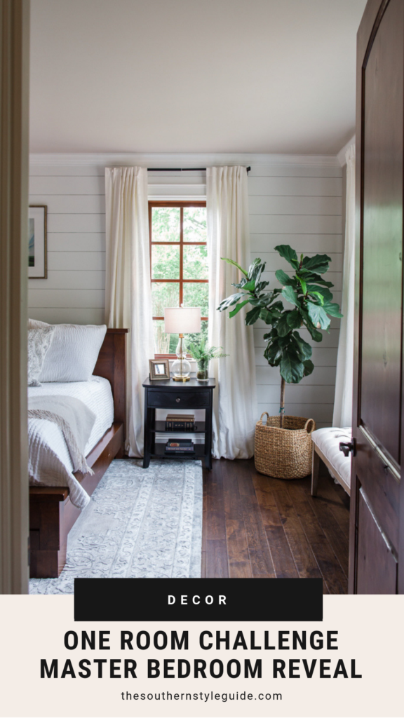 White and Grey Master Bedroom Reveal | Cristin Cooper