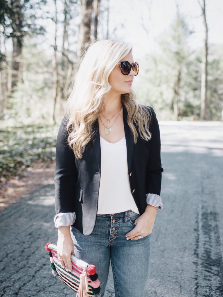 spring highrise denim and blazer