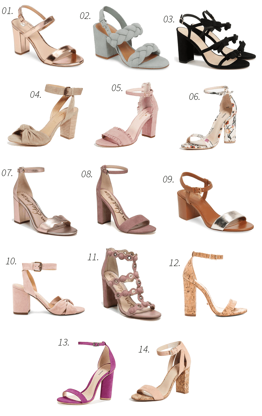 block heels, spring, shoes, sandals