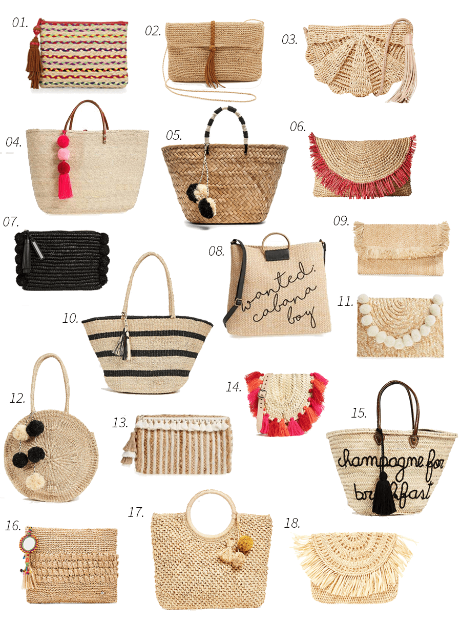 Woven bags, accessories, bags, straw bags