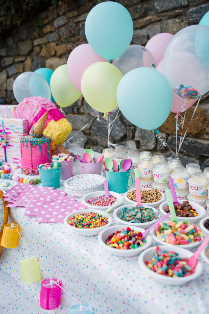 Ice Cream Birthday Party Decorations via The Southern Style Guide