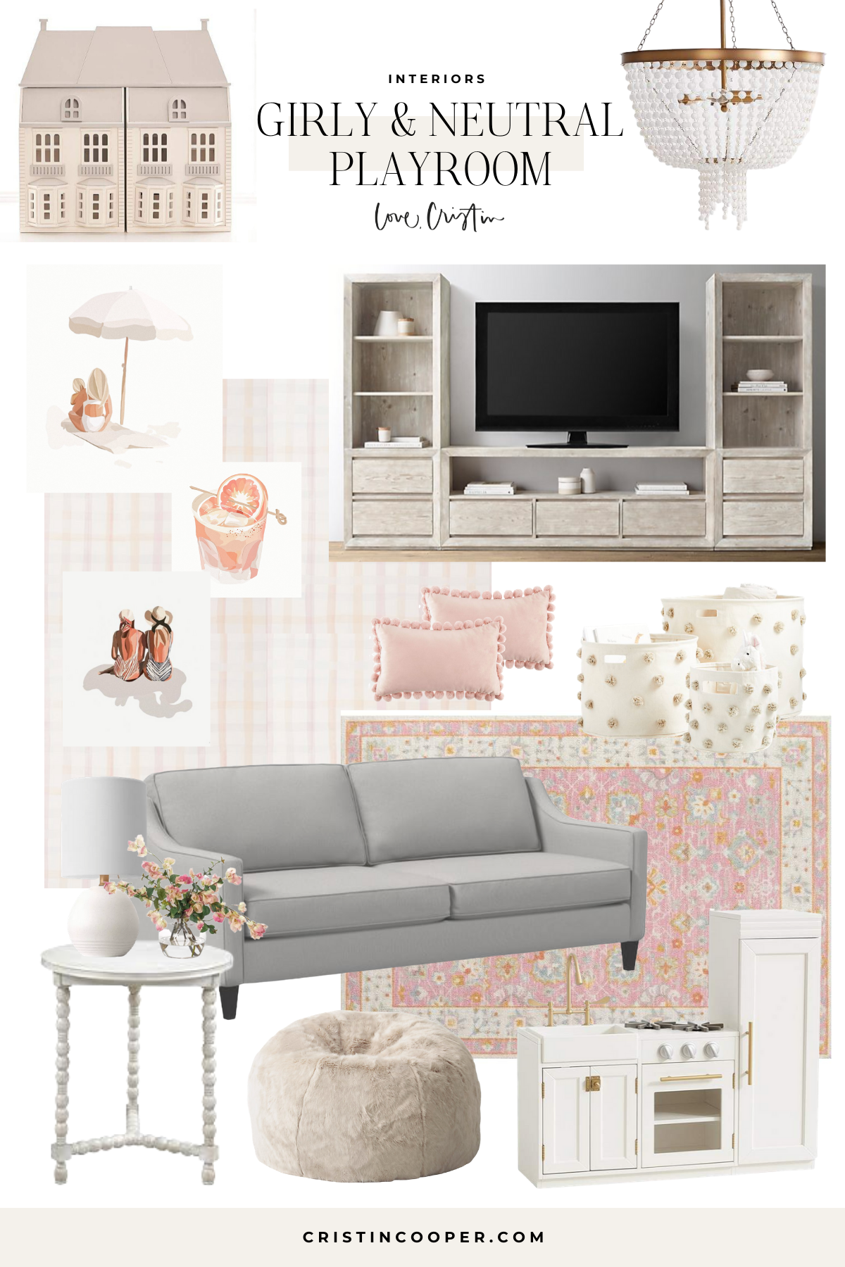 Neutral Playroom Design