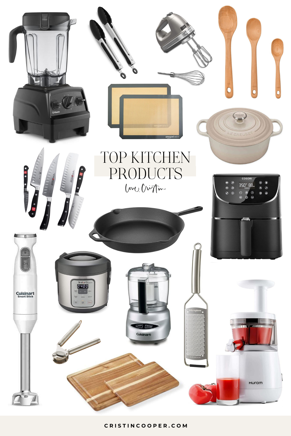List of kitchen essentials from Cristin Cooper.