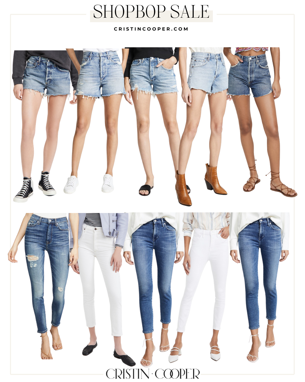 Demin shorts and jeans on sale at Shopbop