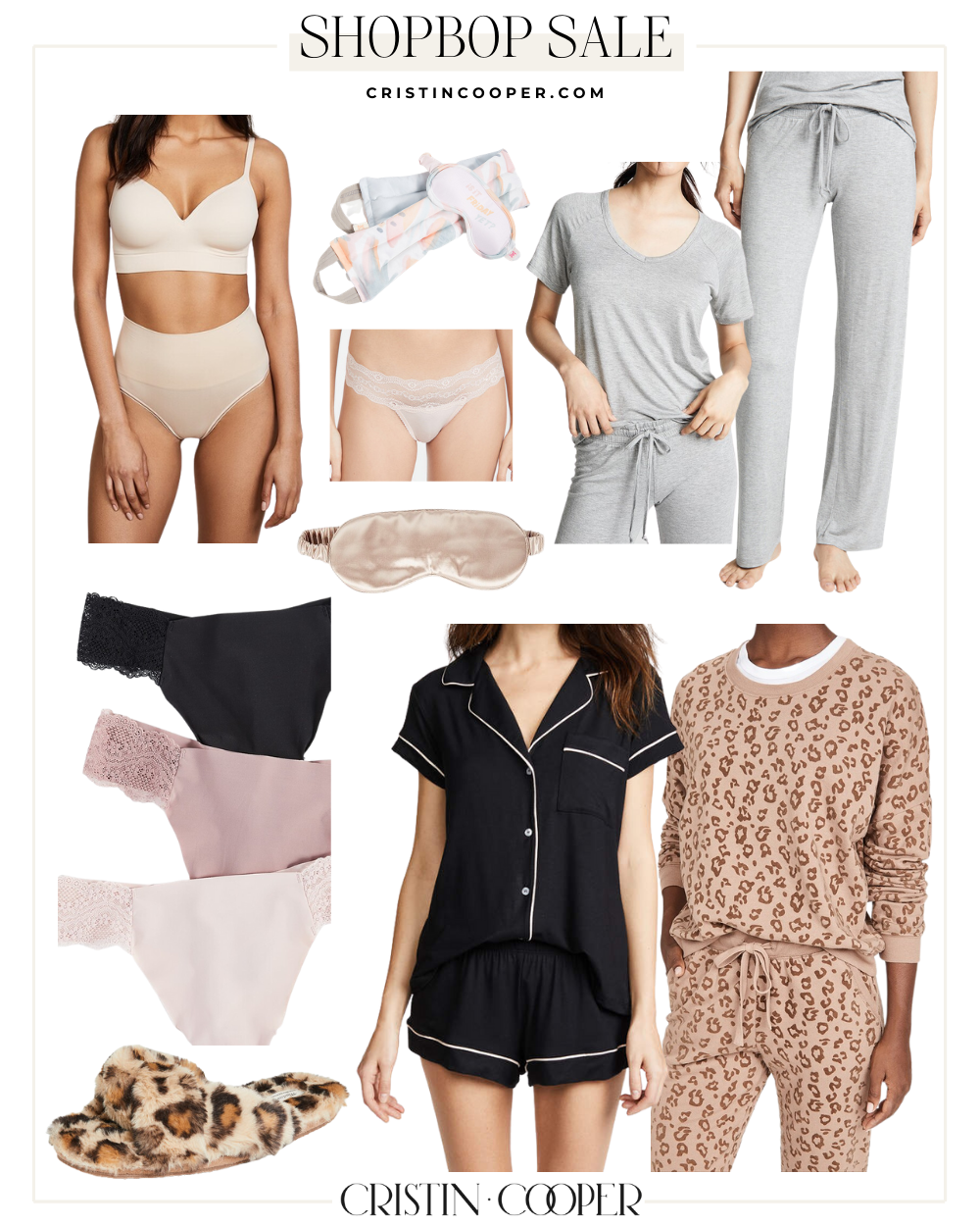 Pajamas and intimates from the Shopbop Sale.