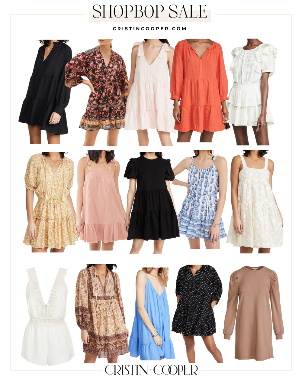 Dresses from the Shopbop spring sale.