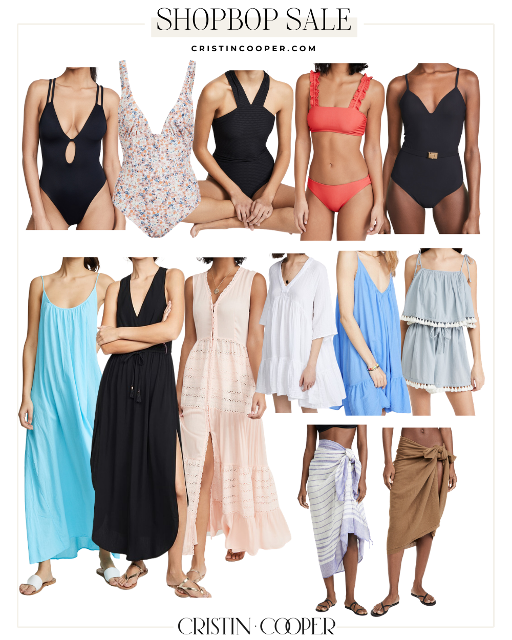 Swimsuits and coverup picks from the Shopbop sale