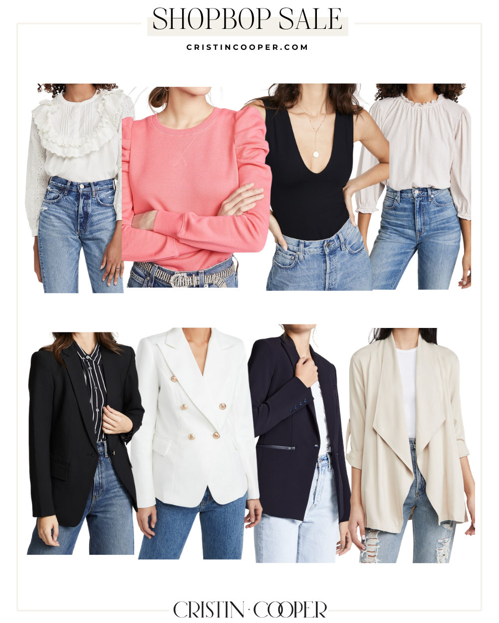 Tops and blazers on sale at Shopbop