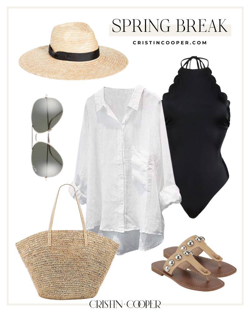 Beach coverup outfit for spring break