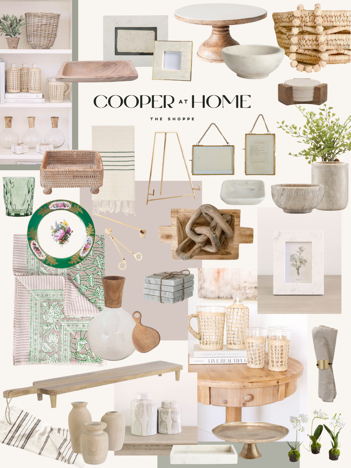Shoppe Cooper at Home May 2021 Collection of refined rustic home decor.